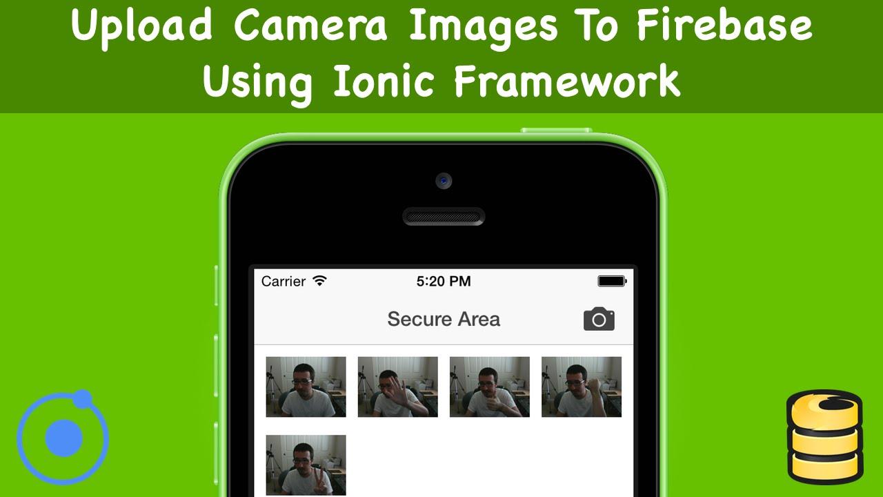 Upload Camera Images To Firebase Using Ionic Framework
