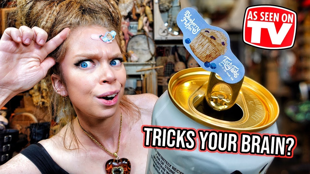 This Sticker Tricks Your Brain? TASTY TABS - Does This Thing Really Work?!