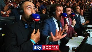 SKY COMMENTATORS SHOCKED LIVE REACTION TO ANTHONY JOSHUA KNOCK DOWN!