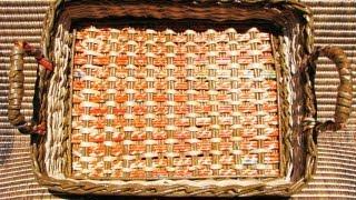 ▬► Плетение из газет квадратного дна -Часть1. / Bottom of the basket weaving(На сайте http://pletenie-iz-gazet.net добавлена первая часть подробного видео мастер-класса от Елены Тищенко по..., 2011-11-24T06:24:38.000Z)