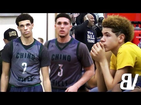 PRIME Chino Hills CHALLENGED By D1 Guards & OVERRATED Chants! Lonzo & LiAngelo Ball TAKEOVER in 4th