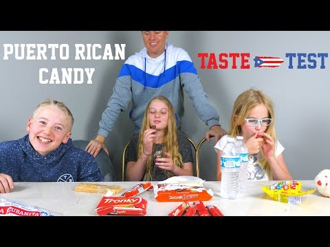 KIDS TRY PUERTO RICAN SNACKS!