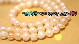"""""""천연진주""""팔찌 장만할 수 있는 기회"""