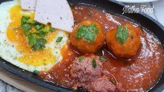 Xíu mại sốt cà, thịt viên xíu mại, cách làm đơn giản mà thơm ngon bất ngờ    Natha Food