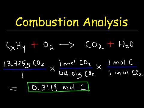 Introduction to Combustion Analysis, Empirical Formula & Molecular Formula Problems