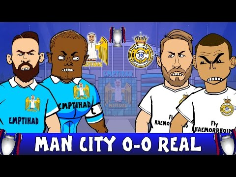 MANCHESTER CITY vs REAL MADRID 0-0 (UEFA Champions League Semi-Final Parody Highlights 2016)
