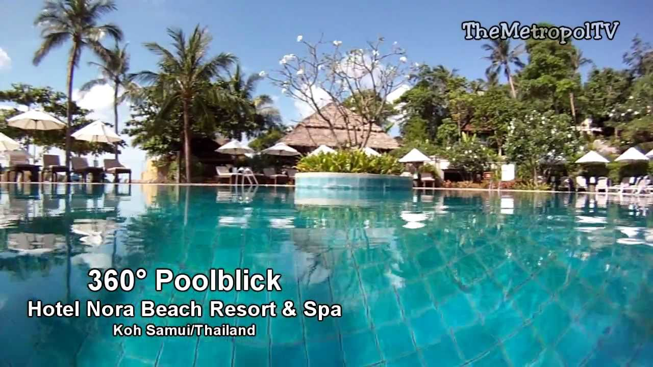 360 Poolblick Nora Beach Resort Spa Koh Samui Thailand Juni 2017