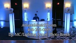 Atlanta Wedding DJ 408 205 0885 lighting decor ideas