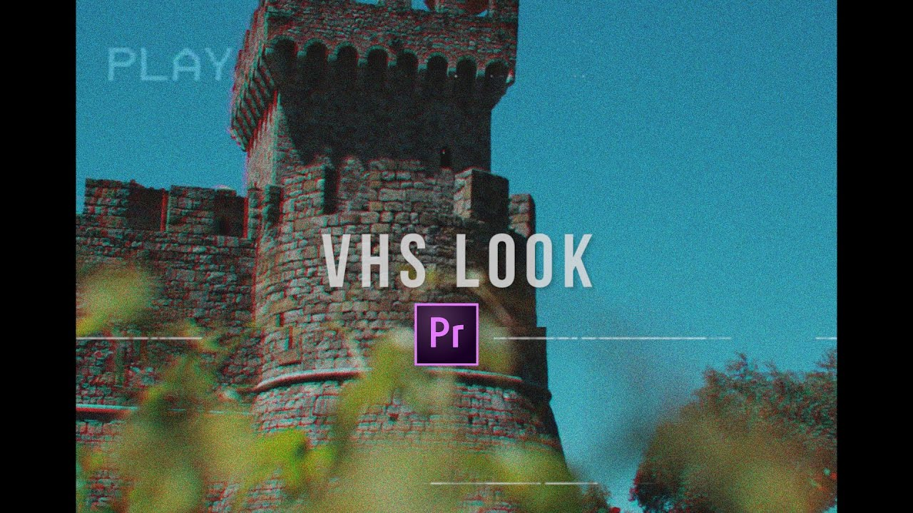 Vhs Camera Look Premiere Pro Cc 2017 Tutorial Youtube