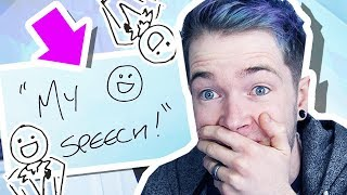 REACTING TO MY WEDDING DAY SPEECH!!!