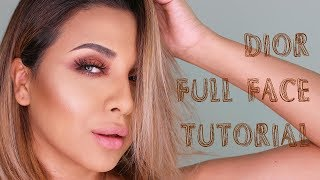 DIOR MAKEUP TUTORIAL | NEW COLLECTION! FULL FACE!