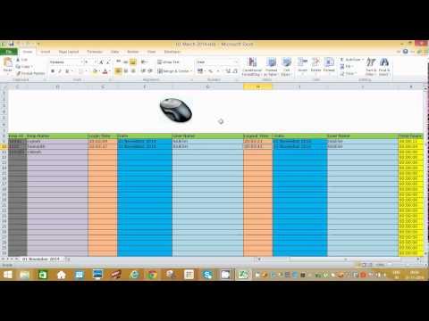 Employee time tracker(login-logout)