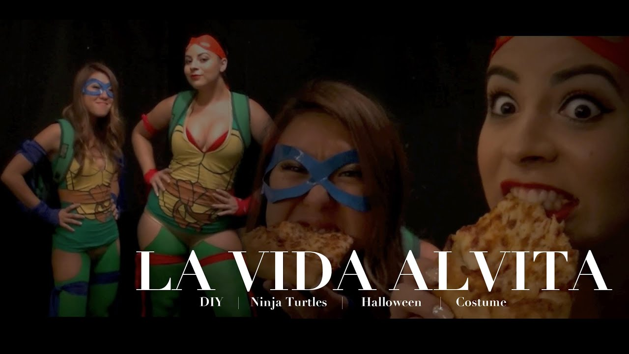 Diy hot ninja turtles halloween costume no sewing required youtube solutioingenieria