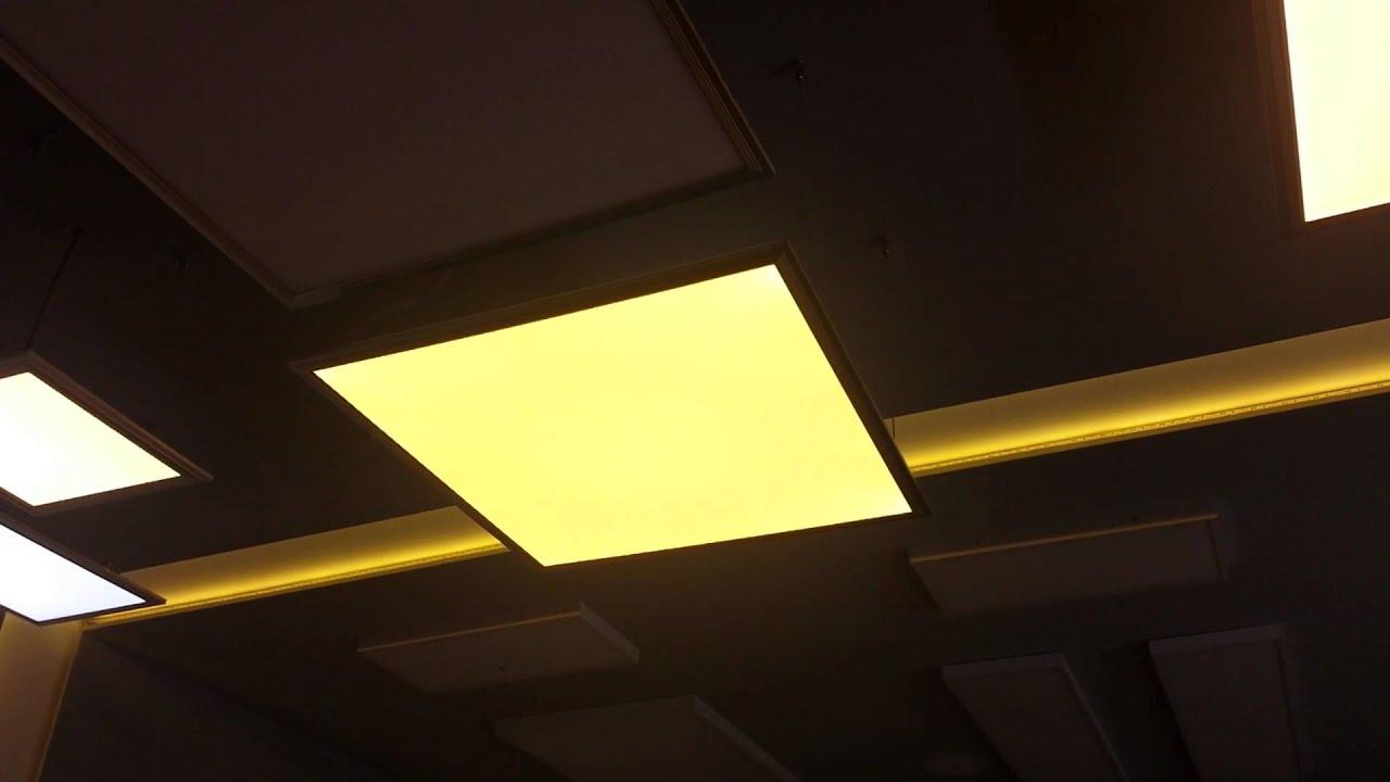 Plafoniera Led Dimabila : Panou led functii dimabil cu telecomanda iluminat