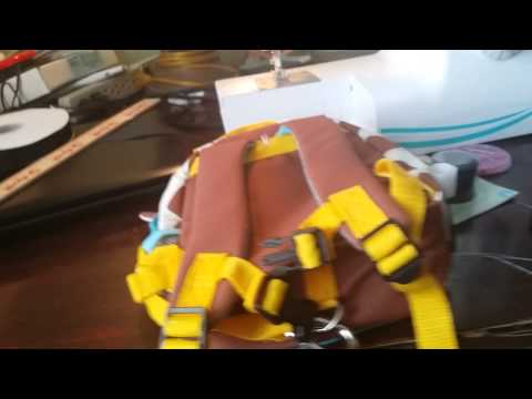 Feeding Tube backpack modification DIY Tutorial