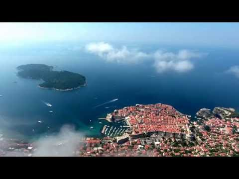4K Dubrovnik Croatia from sky