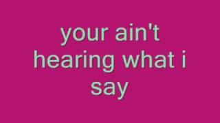 Cowboy Casanova-Carrie Underwood [lyrics on screen].