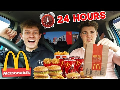 WE ATE ONLY MCDONALDS food for 24 HOURS! *we felt ill*