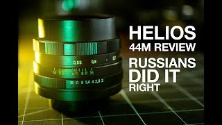vintage Helios 44M 58mm f2 lens review in video and photo samples. BOKEH!