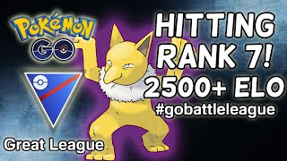 Getting My Rank 7 Rating with Shadow Hypno \u0026 Forretress - 2500+ MMR | Pokemon GO Battle League PVP