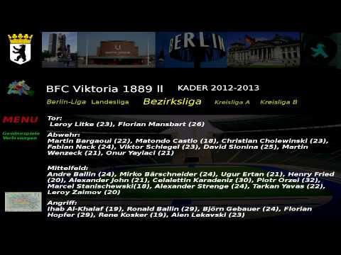 BFC Viktoria 1889 ll Kader 2012-2013 Bezirksliga 1. Abteilung