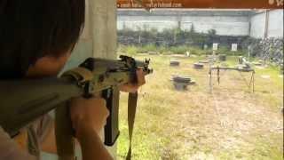 Repeat youtube video เกราะกันกระสุน ทดสอบ อาก้า AK 102 (5.56) ตอน 1 / D.I.Y Armor Plate 01