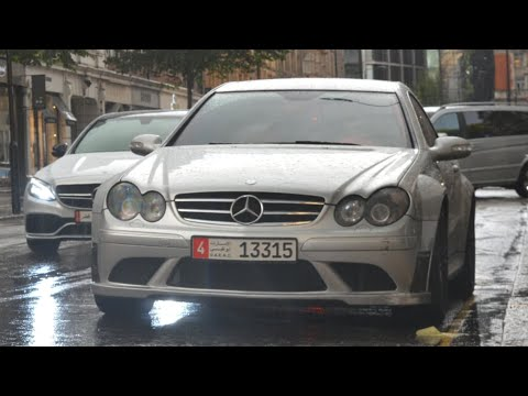 Arab Mercedes CLK63 Black Series w/ MHP pipes - LOUD sounds in London!
