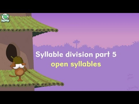 Syllable Division: Open Syllables