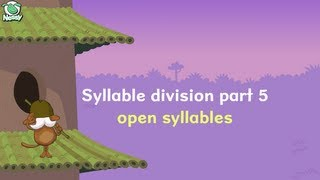 Syllable Division part 5 - Open syllables