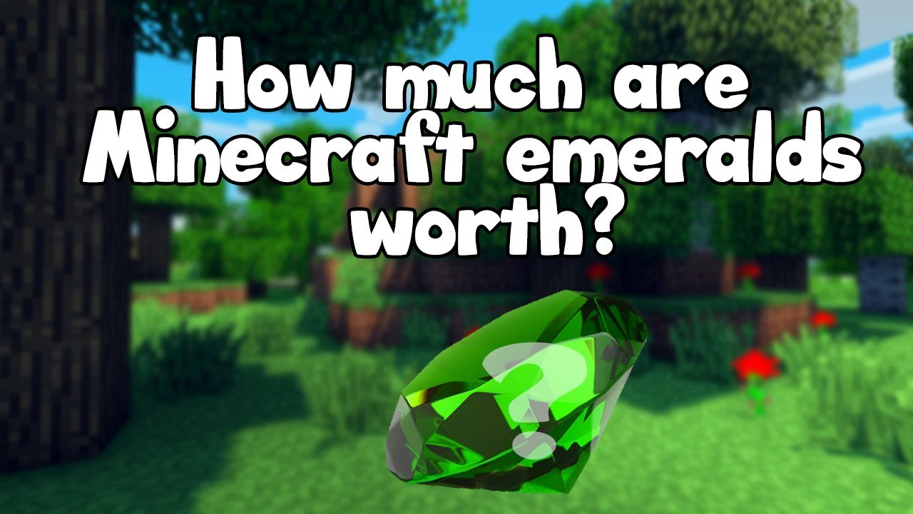 how much is a minecraft emerald worth in real life youtube. Black Bedroom Furniture Sets. Home Design Ideas