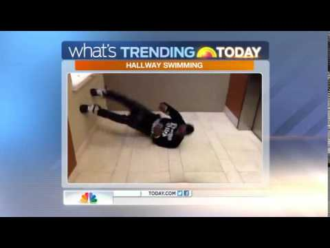 'Hallway swimming' is latest viral trend
