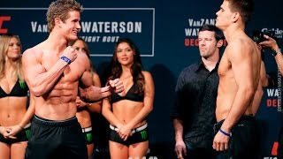 UFC on FOX 22 Weigh-Ins: Sage Northcutt vs. Mickey Gall Staredown