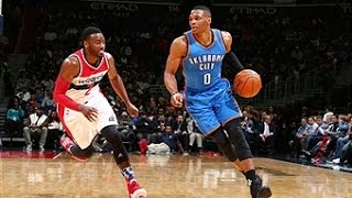 Russell Westbrook Notches Triple Double Vs. Wizards