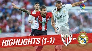 Resumen de Athletic Club vs Real Madrid (1-1)