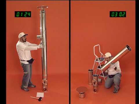 Wierer montaggio camini youtube - Montaggio stufa a pellet idro ...