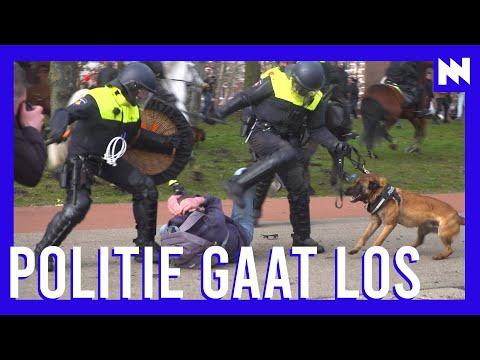 Politie slaat met