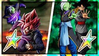 100% Rainbow star LR Goku Black + TUR Goku Black! The ultimate duo! | Dragon Ball Z Dokkan Battle