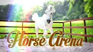 diy how to make doll arena   breyer horse arena   schleich horse arena handmade doll crafts