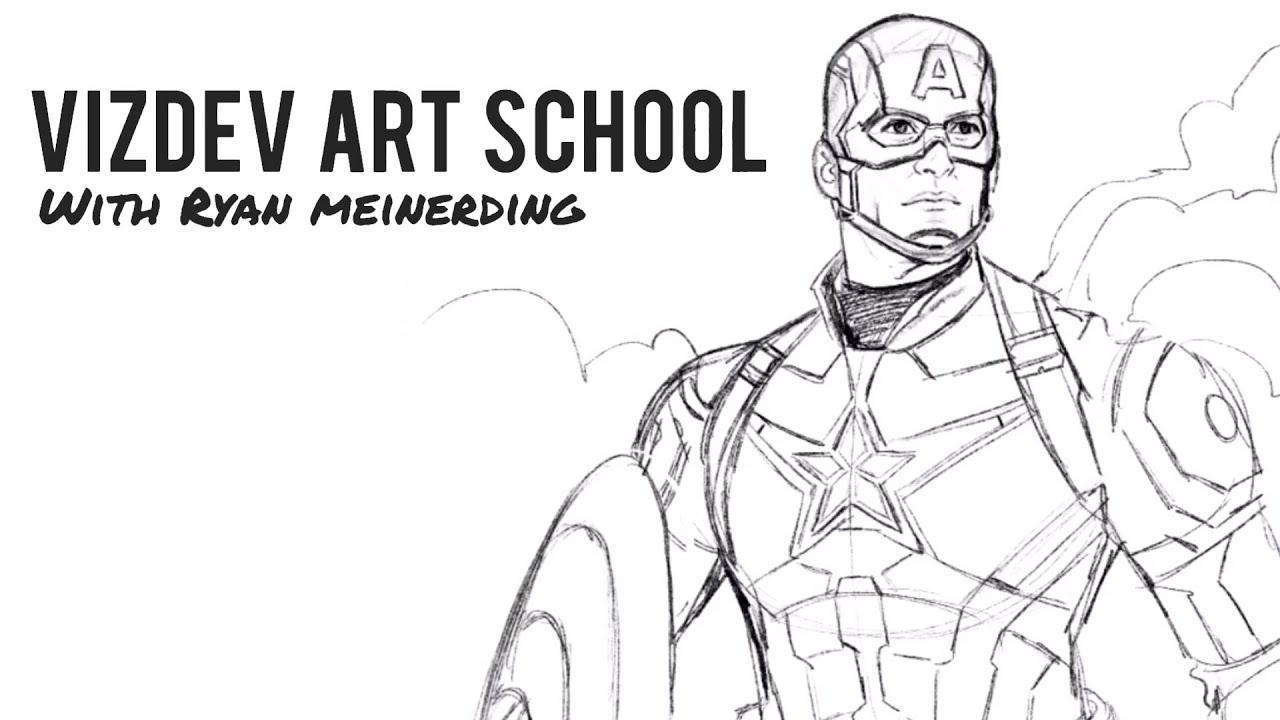 Superhero Bits How To Draw Captain America Marc Maron S