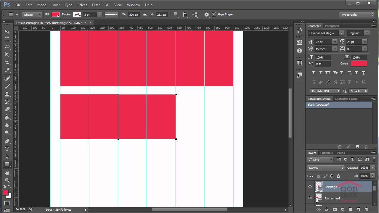 Cara Membuat Desain Web Di Photoshop Part 2 : Pembuatan ...