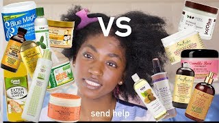 Dry Damaged 4C hair vs EVERY PRODUCT I OWN   I split wash day down the middle for science