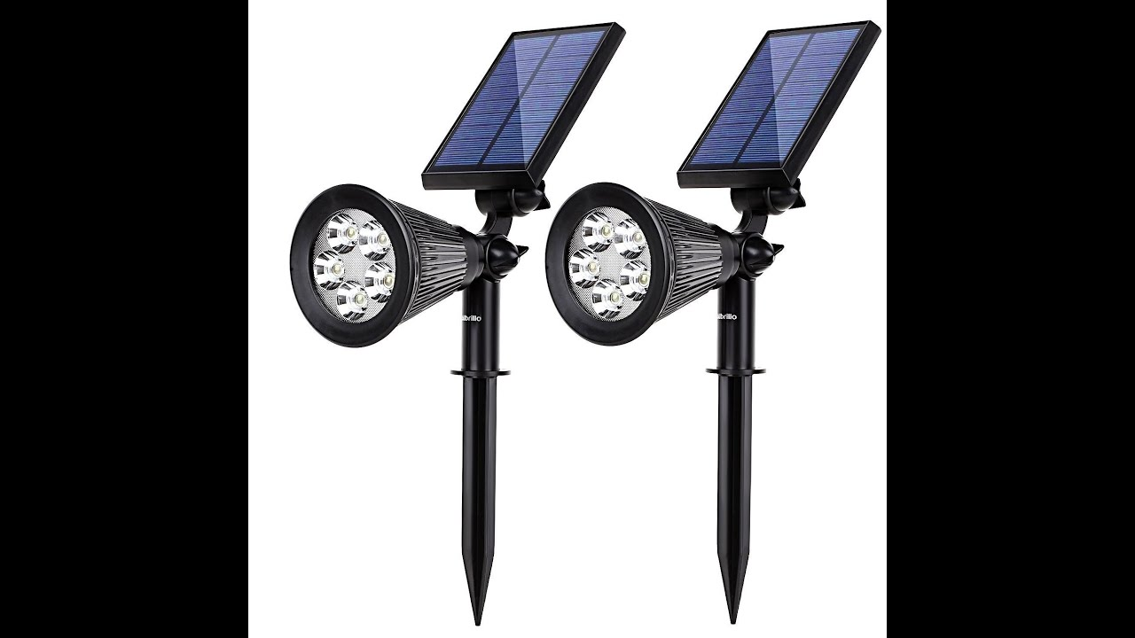 Albrillo 5 LED Solar Powered Spotlight Rechargeable Landscape