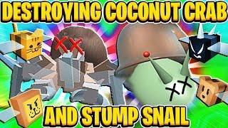 Zerstören Stump Schnecke und Kokosnuss Krabbe In Roblox Biene Schwarm Simulator