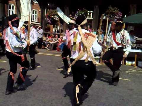 Black Silurian Morris Dancers in Ledbury