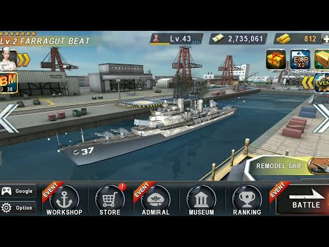 Warship Battle: FARRAGUT BEAT Destroyer In Boss Attack...