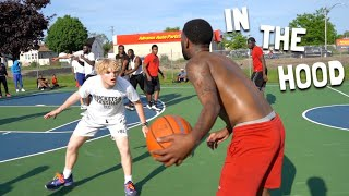 5v5 Basketball VS REAL Hoopers IN THE HOOD!