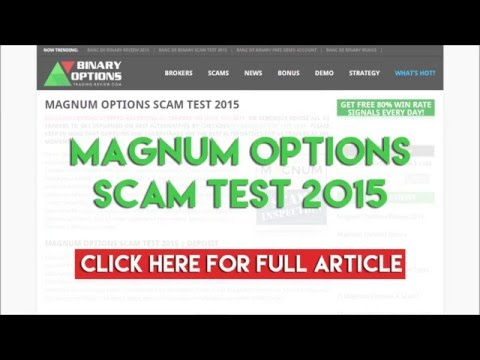 Magnum Options Review – Binary Options Reviews & Ratings