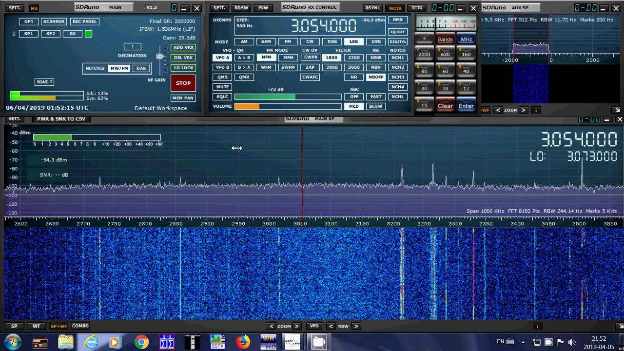 Weird signal tones sweep 3054 kHz LSB Shortwave | worduser01