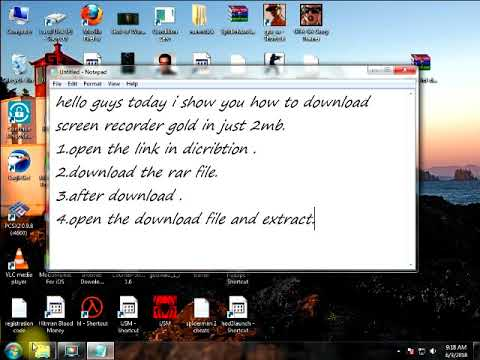 How to download screen recorder gold in just 2mb pc free