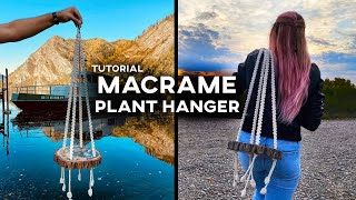 Macrame Plant Hanger (with Woo…